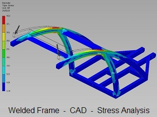 Welded Frame _ CAD CAM Stress Analysis _ Engineering